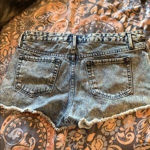 Bullhead Shorts - bullhead blue acid wash shorts